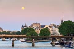 Lua cheia de Paris Imagem de Stock