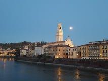 Lua cheia de Verona Foto de Stock Royalty Free