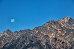 Lua cheia do por do sol Imagens de Stock