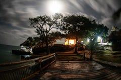 Lua cheia em Isla Fuerte Foto de Stock