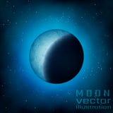 Lua cheia no céu Foto de Stock Royalty Free