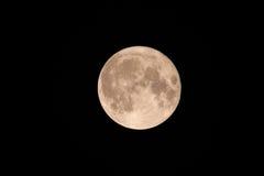 Lua cheia no céu noturno Fotos de Stock