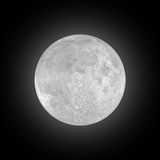 Lua cheia no céu preto Imagens de Stock