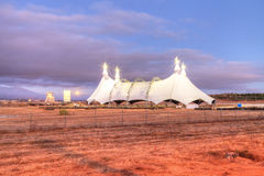 Lua cheia sobre uma tenda do circus Fotos de Stock