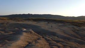 Lua como a paisagem criada por vulcões da lama Imagens de Stock Royalty Free