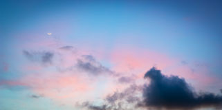 Lua crepuscular Foto de Stock