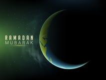 Lua criativa para a celebração da ramadã ilustração royalty free