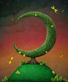 Lua da árvore ilustração royalty free