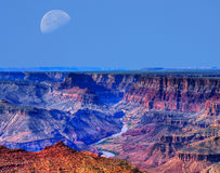 Lua de Grand Canyon Foto de Stock Royalty Free