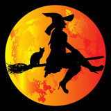 Lua de Halloween Foto de Stock Royalty Free