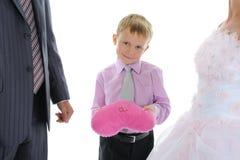 Lua de mel dos anéis de casamento Imagem de Stock Royalty Free