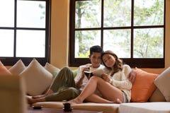 Lua de mel no recurso do hotel Imagens de Stock Royalty Free