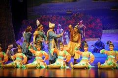 Lua de troca-Hui tribal do bailado sobre Helan Fotografia de Stock