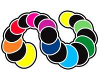 A lua do arco-íris pôr em fase a tira dos círculos ilustração do vetor