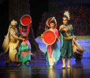 Lua do bailado do príncipe-Hui da dança sobre Helan Imagem de Stock