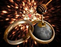 Lua do mel ilustração royalty free