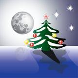 lua do Natal Fotografia de Stock