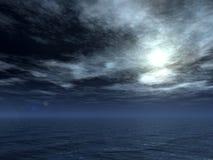 Lua do oceano Imagens de Stock Royalty Free