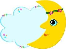 Lua doce com bolha da mensagem ilustração royalty free