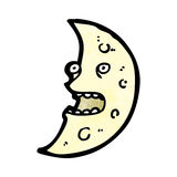 lua dos desenhos animados Imagens de Stock