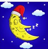 Lua dos desenhos animados do sono Foto de Stock