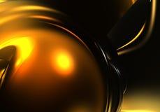 Lua dourada (fantasia) Imagens de Stock
