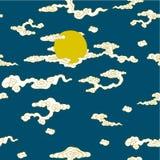 A lua e as nuvens ilustração royalty free