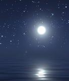 Lua e céu nocturno Fotografia de Stock