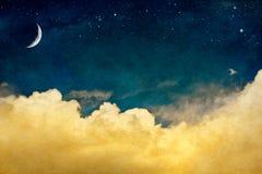 Lua e Cloudscape Fotografia de Stock
