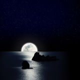 Lua e estrela Imagens de Stock