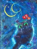 Lua e flores Imagem de Stock Royalty Free