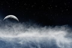 Lua e Fogbank imagens de stock