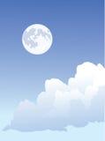 Lua e nuvens Ilustração Royalty Free