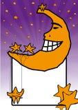 Lua e suas estrelas Foto de Stock Royalty Free