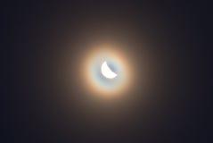 A lua em uma névoa Imagem de Stock