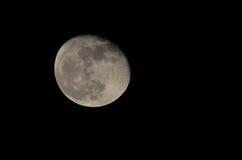 A lua… em uma noite nebulosa Imagens de Stock Royalty Free