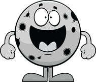 Lua feliz dos desenhos animados Fotos de Stock Royalty Free
