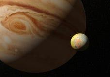Lua jupiter do Io Imagem de Stock Royalty Free