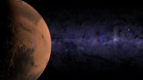 Lua Marte da terra Foto de Stock Royalty Free