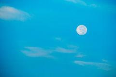 Lua no bluesky Imagem de Stock Royalty Free