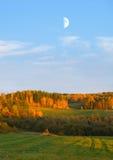 A lua no céu Imagem de Stock Royalty Free
