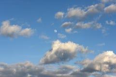 Lua no céu Imagens de Stock