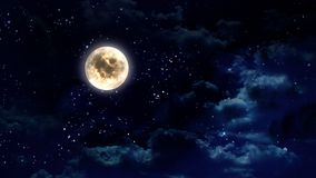 Lua no céu nocturno Foto de Stock Royalty Free