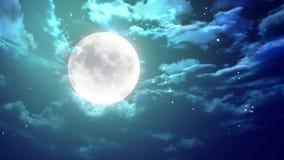 Lua no céu nocturno Imagem de Stock