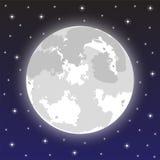 Lua no céu nocturno Imagem de Stock Royalty Free