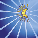 Lua no céu nocturno Imagens de Stock Royalty Free