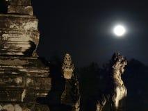 Lua no leão principal Imagem de Stock