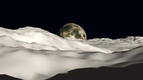 Lua para moon a vista Imagens de Stock Royalty Free