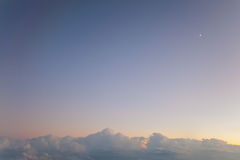 Lua pequena do céu grande Foto de Stock
