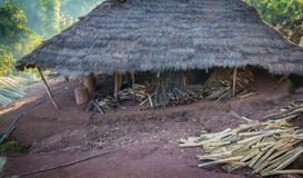 Hill tribe village. Lua, PraGum hill tribe village Maintaining the architectural style royalty free stock image